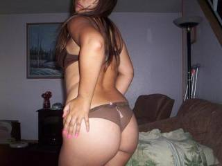 Mmmm dont you just love a thick latina?  took this shot at a relatives home.  We love to fuck knowing there is a chance we can get caught.  How about you?  Let us know.  Still looking around here and more hardcore pics will come if we get a great response