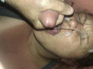 Taking Loads of Hot Cum in my Mouth and on my Face makes me Cum. There's Nothing better than taking a HUGE load !!! COVER ME !
