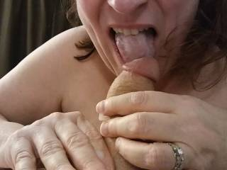 I got some, but I want the rest of that love juice! Did I get it all? See more of my cock sucking with my accompanying video.