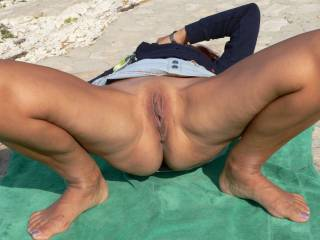 You\'re not really nude unless both holes are showing