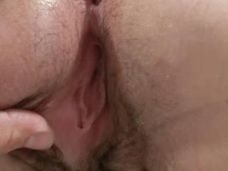 Wife bent over