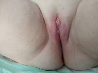 Just had to post some pictures of my wife\'s hot, sexy, smooth, shaved pussy. I would love to hear what viewers would like to do with her and or us. Send suggestions.