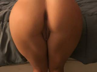 lovely round ass bent over at my bed....great display!