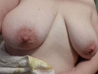 Just tits,  after shower