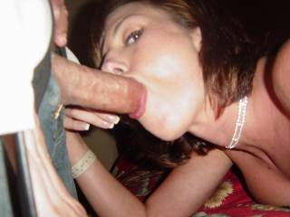 OMG, she is so sexyl...if I had been there she would have had to do a forth....that sexy woman can suck all the cum she wants from my thick hard cock....I sure love watching her suck it.  What a hot woman.  G