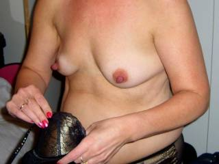 Do you like her small tits................