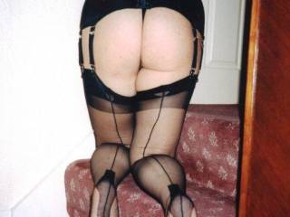 those nylons just get my balls tingling.....