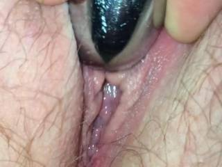 MMMMMMMM such a tasty tight little pussy...... nice and wet,,, mmmmm I'd love to have it for desert,, yummmmmy