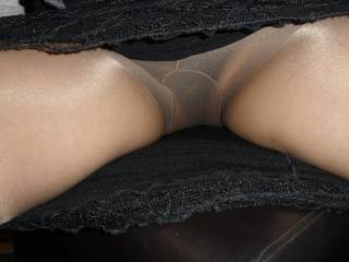 Mmmm, yeah....let me lick you through the nylon first, before I rip them open.