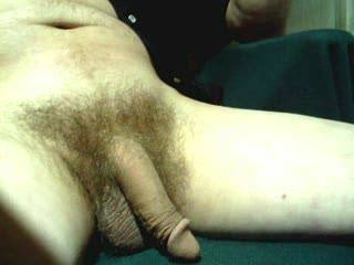 Nice size cock! Love the way it got hard! Very sexy!