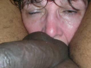 mature white slut licking my balls & ass