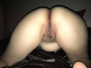 Easy access to push your hard cock in either tight warm hole