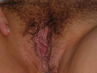 Love your hairy pussy hun, looks good enough to eat...mmmm