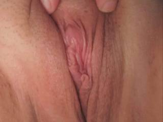 shaved and wanting me to come over and stretch it wide open