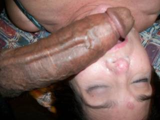 I Unloaded My 12inchMandingo Cock All Over Her Face