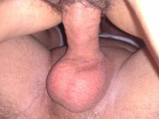 Nice I would like to spread her pussy with my cock bareback also!! Then my wife could clean up the big mess I left in her!