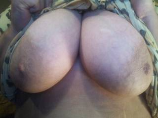 I would love to suck on those for hours and play with your nipples to see how big and fat I could get them to grow!