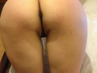 As yummy as you look zoomed-in, I like it best like this, with your pretty thighs and your back showing. Just beautiful!