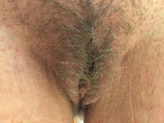 Love it has my wicked tongue going wild and cock throbbing to experience her hot hairy pussy! Mmmmmmmmmmm