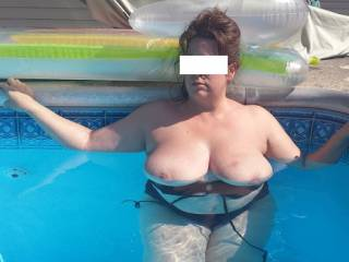 Love those afternoons!!!!  Mind if we just use her breasts to float with?