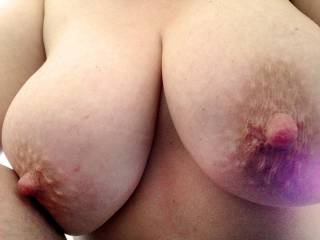 And so so tasty, I would love to suck long and hard on those pretty nipples, get them real nice and tender