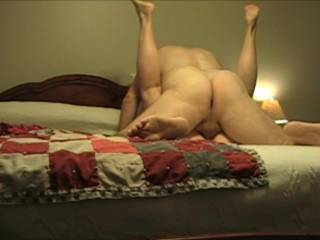 I got really horny and told Reb to film us.  I love having his meaty sausage driving deep inside me.  His cum spraying coating my cervix. Feeling his cock pulse as he squirts.  I know we\'ve been away awhile but am I still good enough for you to pound?