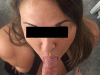 I'm always ready to suck my boyfriend's big hard cock, I love being on my knees ready to please him... waiting to feel it deep down my throat.