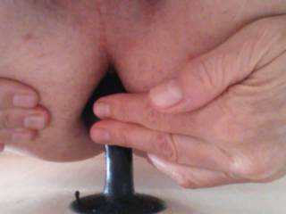 i stuck my butt plug against a wall and just fucked myself on it it was an amazing feeling
