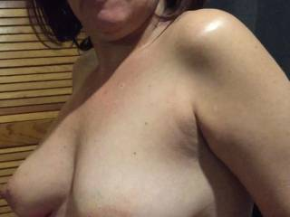 Patricia exposing her boobs for everyone
