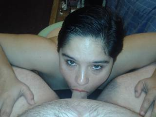 I love sucking my husband's dick! Want to share it with me?