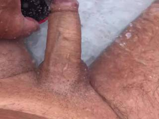 The only way I can get my cock cool when its 35c 