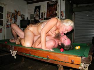 It doesn't matter what he potted, he has his cue in a sweet spot   xxxx peter  , and that is the only way to play pool