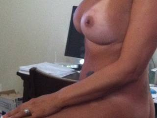 Damn, I would love to suck on those nipples!  ( And the rest of you to be truthful)
