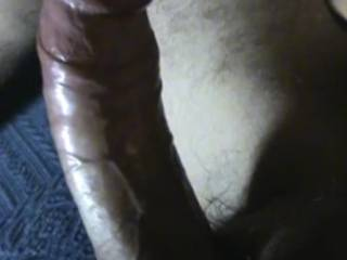Big, hard and ready to explode... Mmmmm, you make my pussy so wet and eager to be filled by your hot cum...