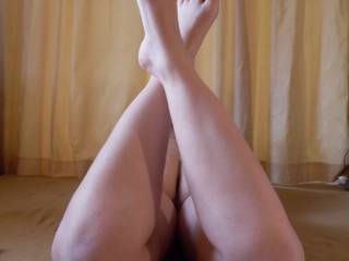 ...after I've sniffed, licked, sucked and explored every inch of your sexy toes n toes! Gorgeous!