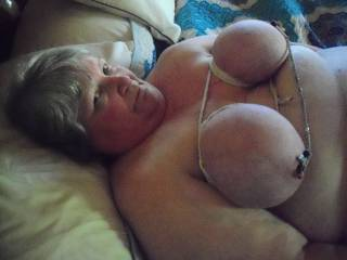 How about some big breast sucking,love her tits!