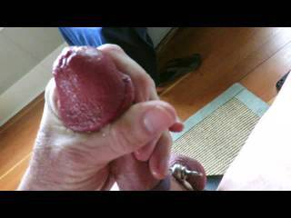 What a delicious hard cock...I'd enjoy having my mouth on that.  Mmmm beat it and make that delicious cock cum....You have a delicious load.  I'd like to play with your balls and suck them too. Watching you cum in these video makes my pussy wet.  You cum so good.  | can taste it and your cock. MILF K