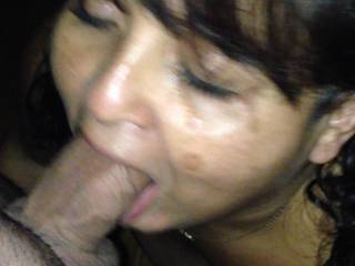 Yea! A nice facial n loved her rubbing it in!