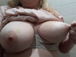 Kiki pulling her nipple nice and hard. She has very tough and fun to play with nipples!