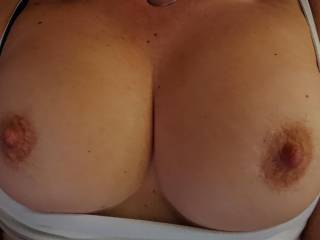 My wife offering her big boobs