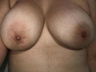 my nipples hardening after playing with myself