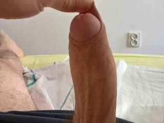 I love to play with my foreskin