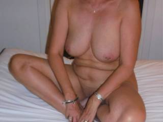My pierced nipples and pussy at the Cap D\'Agde swinger hotel in France, where we were recently on holiday.