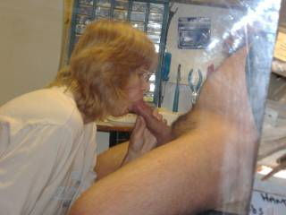 My tenant sucking me so good in the maintenance shop. Getting me close to cumming...