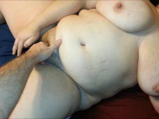 OMG Love this video, the way your wife's massive tits wallow about and her huge lump of belly fat wobbles all over...she is magnificent, so sexy , she really gets me hard. I would love to fuck her extremely sexy gorgeous  body
