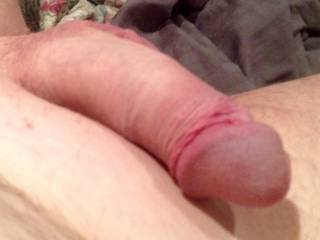 My dick not fully hard I know there are some girls out there who could make it hard and get it to its full potential.Freshly waxed as well