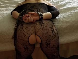 All tied up with an open ass and pussy. What should i do first?
