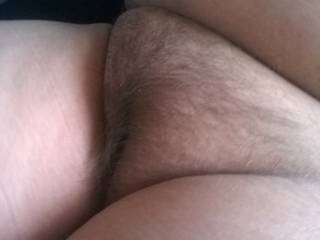 BBW wife's plump hairy pussy. Who wants to lick? Fuck?