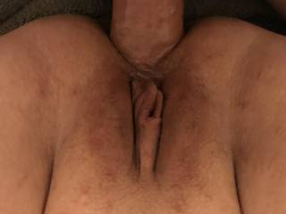 Kiki with her legs pushed back and my cock in her asshole. Any ladies want to play with her pussy while I fuck her ass?