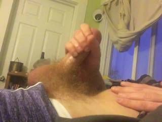 Just stroking my super hard cock